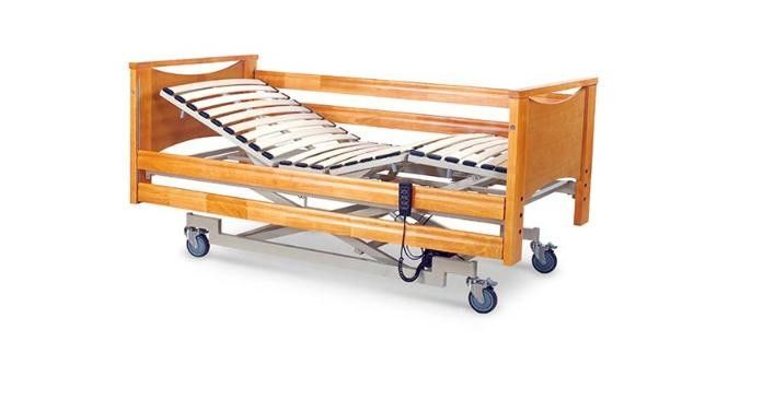 Rehabilitation Therapy Hospital Style Single Bed , Three Function Hydraulic Hospital Bed