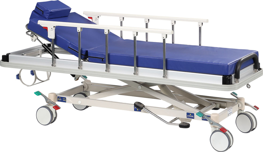 Hospital Hydraulicpatient Stretcher Trolley , Shock Proof Patient Transport Trolley