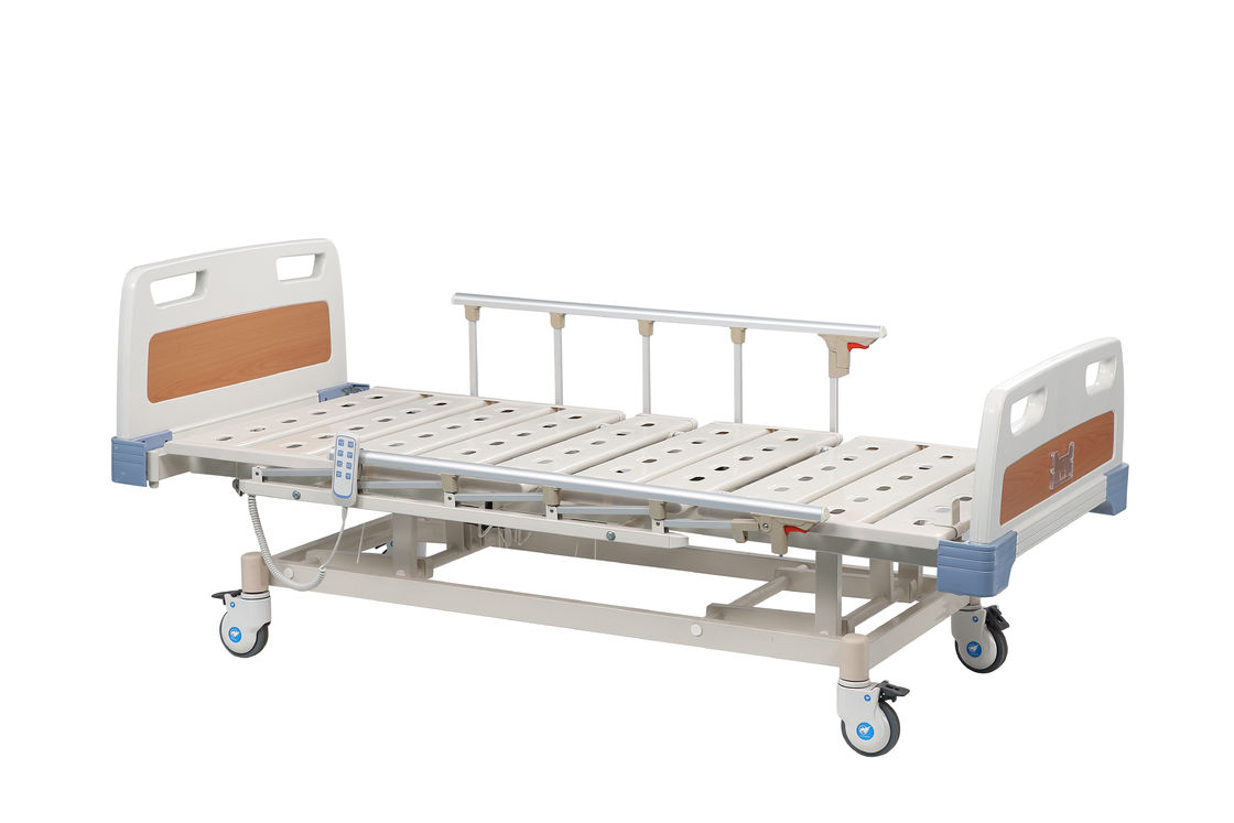 Three Function Manual Hospital Bed OEM With 3 Cranks For ICU With Switch