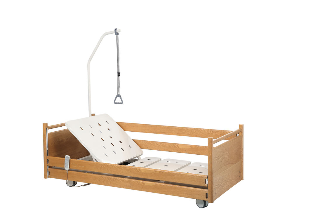 2190 * 970 * 300 - 760mm Home Care Bed For Paralysis Patient Wooden Handrails