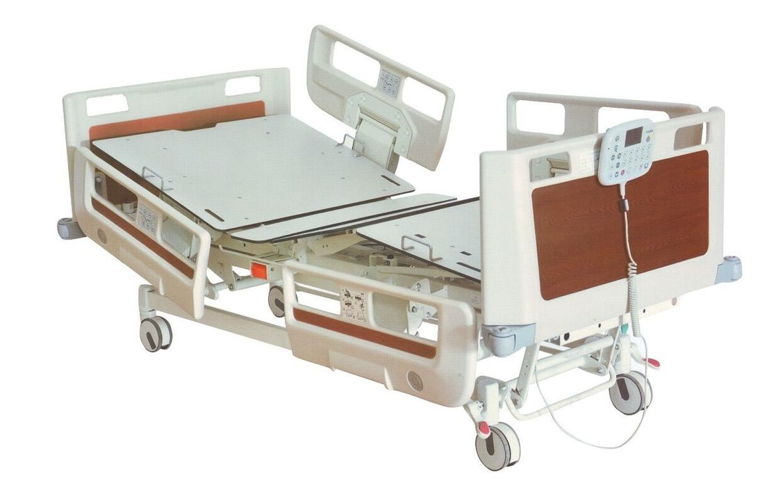 ISO CE  Fast Delivery Foldable Hospital Bed For Icu , PP Handrails With Embedded Operator