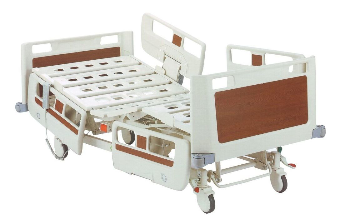 Steel Frame Electrical ICU Hospital Bed With Wheels / Cpr Function