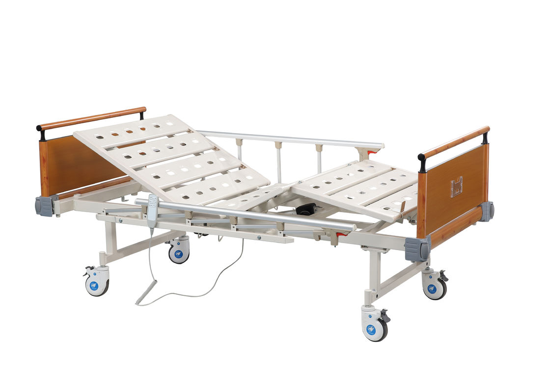 Two Functions Hospital Recliner Bed / Metal Electric Hospital Bed