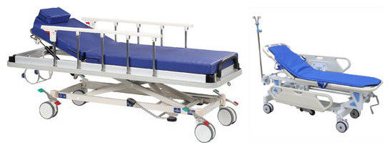 Trendelenburg Patient Transfer Trolley , Easy Operated Ambulance Stretcher Trolley