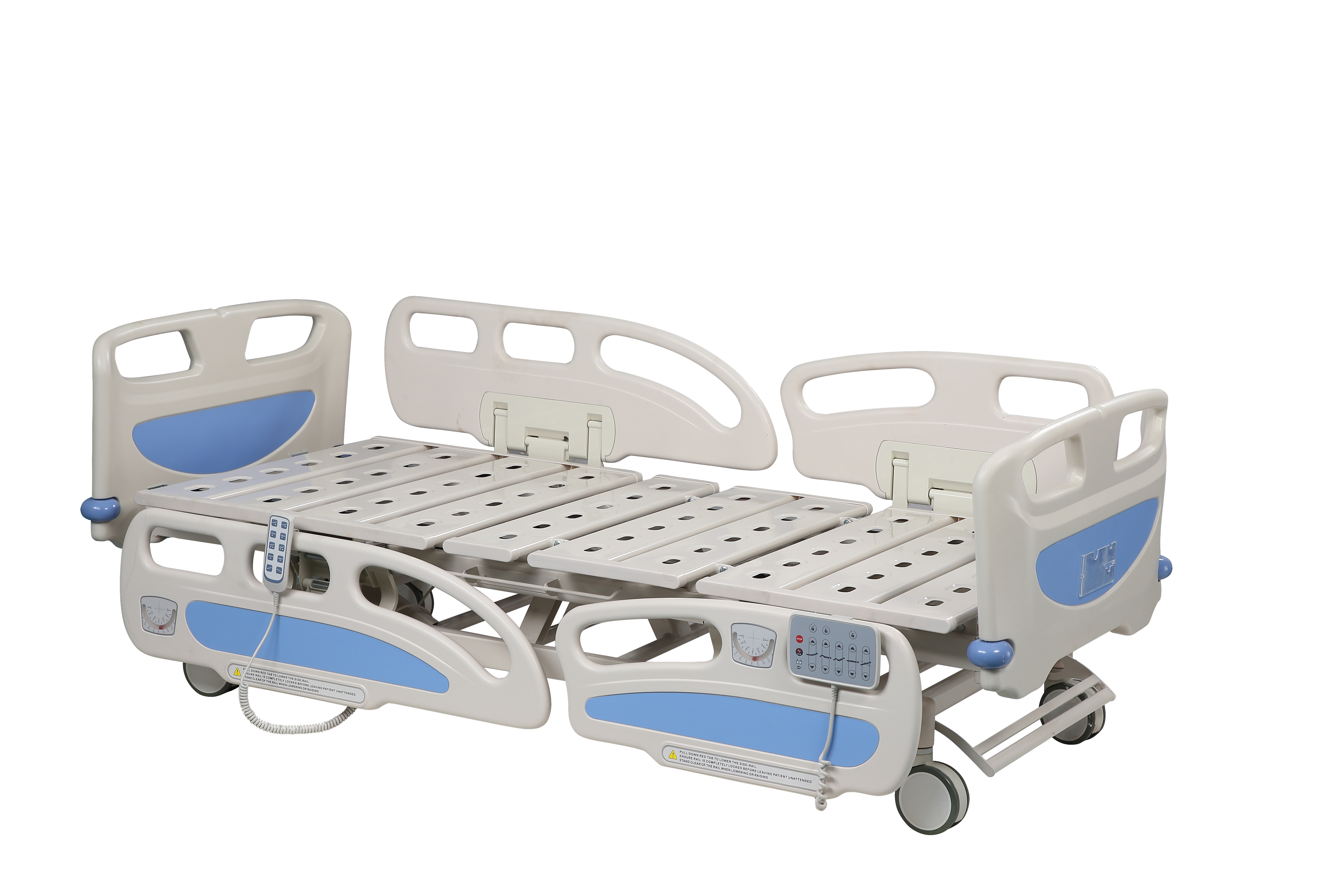 4 Double Side Silcent Wheels Hospital Style Beds For Home Use